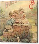 Father Tucks Soap Bubble Canvas Print