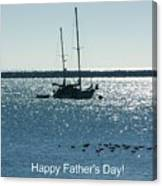 Father's Day Card - Peaceful Bay Canvas Print