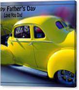 Father's Day W Frame Canvas Print