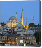 Fatih District In The Morning,istanbul. Canvas Print