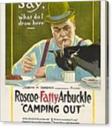 Fatty Arbuckle In Camping Out 1919 Canvas Print