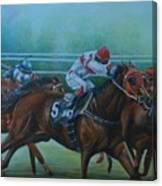 Favorite, Horse Race Art Canvas Print