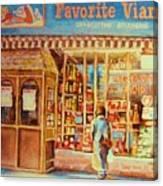 Favorite Viande Market Canvas Print