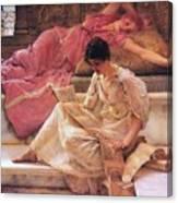 Favourite Poet Lawrence Alma-tadema Canvas Print