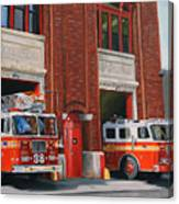Fdny Engine 88 And Ladder 38 Canvas Print
