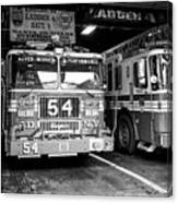 fdny fire station with engine 54 and ladder 5 battalion 9 New York City USA Canvas Print