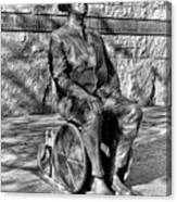 Fdr Memorial Sculpture In Wheelchair Canvas Print