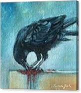 Feasting Raven Canvas Print