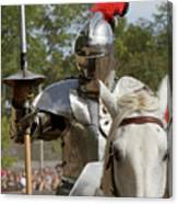 Knight With Lance Canvas Print