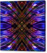 Feathered Stained Glass Canvas Print