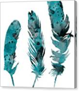 Feathers Watercolor Painting Canvas Print