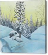 February Morning Canvas Print
