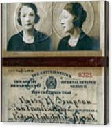 Federal Prohibition Agent Daisy Simpson 1921 Canvas Print