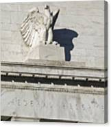 Federal Reserve Eagle Detail Washington Dc Canvas Print