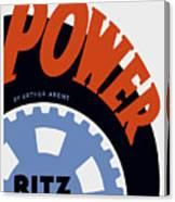 Federal Theatre Project Presents Power Wpa Canvas Print