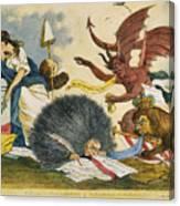 Federalist Cartoon, C1799 Canvas Print