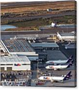 Fedex Express Fedex Ship Center At Oakland International Airport Canvas Print