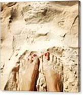Feet Around The World #4 Canvas Print