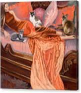 Feline Fashion Harem Canvas Print