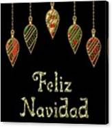 Feliz Navidad Spanish Merry Christmas Canvas Print