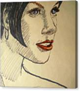 Felt Tip Female Canvas Print