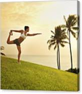 Female Doing Yoga Canvas Print