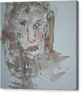 Female  Face Study  A Canvas Print
