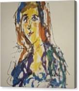 Female Face Study Bb Canvas Print