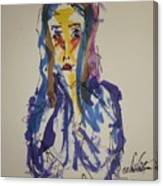 Female Face Study I Canvas Print