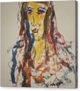 Female Face Study L Canvas Print
