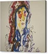 Female Face Study N Canvas Print