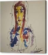 Female Face Study S Canvas Print