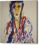 Female Face Study W Canvas Print