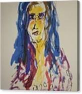 Female Face Study Y Canvas Print