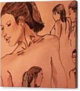 Female Figures Canvas Print
