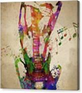 Female Guitarist Canvas Print