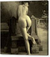 Female Nude, Circa 1900 Canvas Print