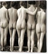 Female Nude Quintet Canvas Print