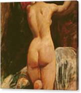 Female Nude Seen From The Back Canvas Print