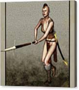 Female Pike Guard - Warrior Canvas Print