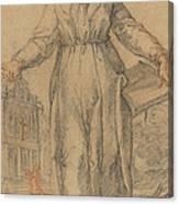 Female Saint (saint Clare Of Assisi Or Saint Catherine Of Siena?) Canvas Print