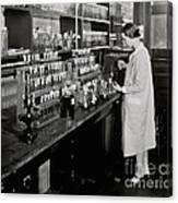 Female Scientist Conducting Experiment Canvas Print