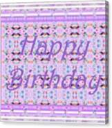 Feminine Lavender Birthday Card Canvas Print