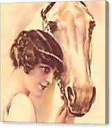 Feminine Rider Canvas Print