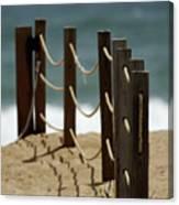 Fence Along The Beach Canvas Print