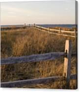 Fence Along The Dunes - Madaket - Nantucket Canvas Print