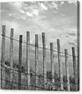 Fence At Jones Beach State Park. New York Canvas Print