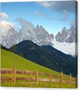 Fence At Val Di Funne Canvas Print