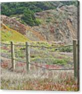 Fence Fort Fungston Canvas Print