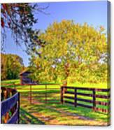 Fence Pasture And Barn 1721 Canvas Print
